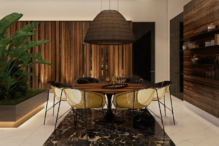 ottone per interni casa contemporanea