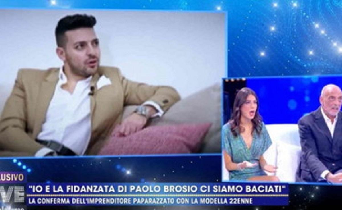 Paolo Brosio e la fidanzata con un altro uomo