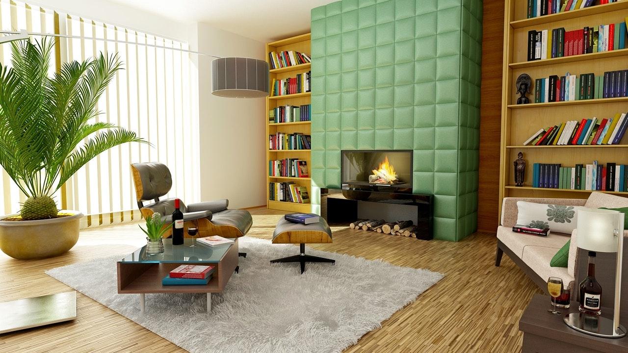 colori-ideali-per-il - soggiorno-verde