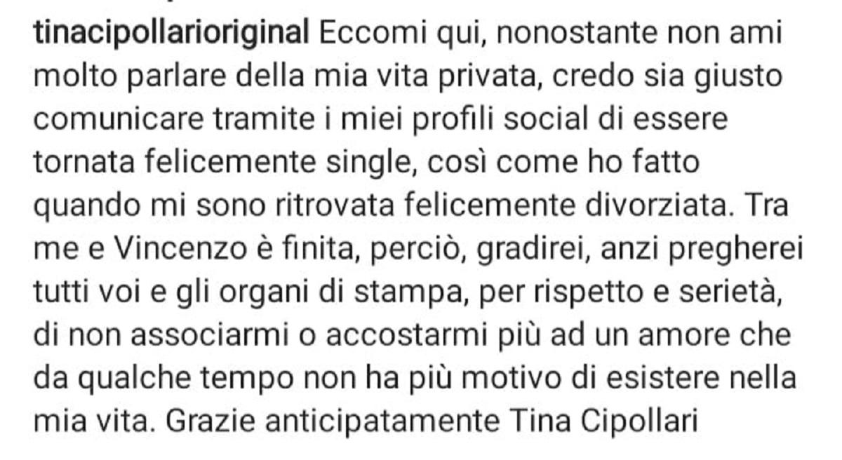 Tina Cipollari torna sigle