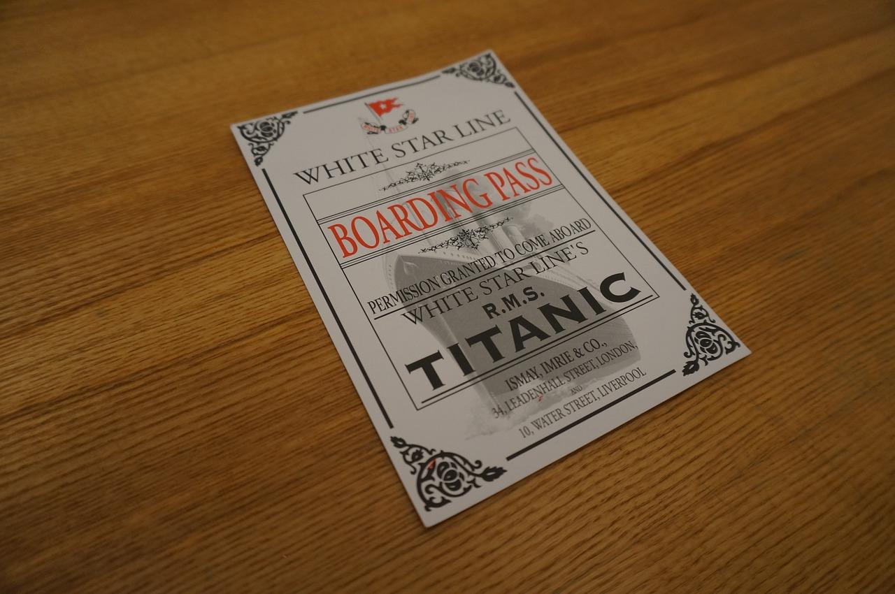 Biglietto per salire sul Titanic