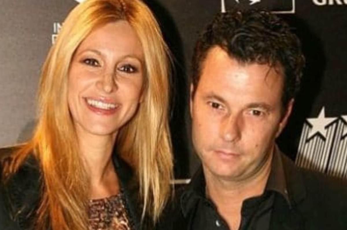 Roberto Parli e Adriana Volpe posano per i fotografi
