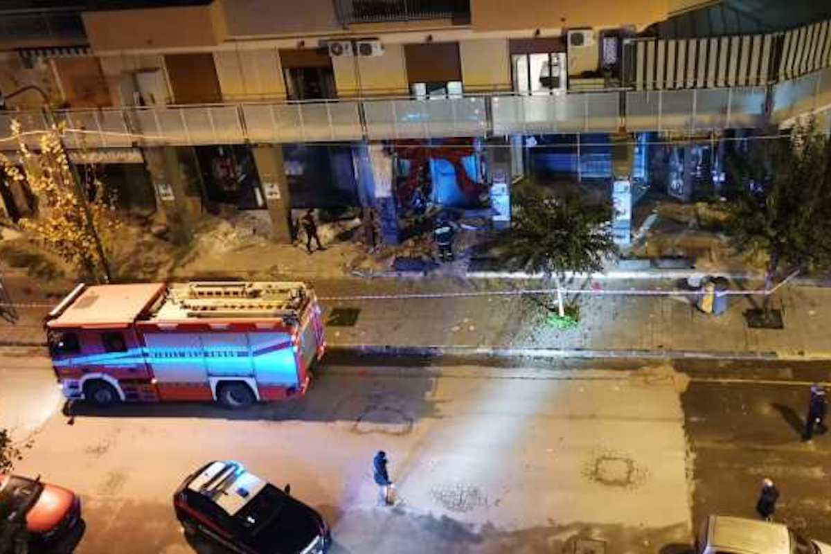 Immagine dall'alto dei danni a Casoria