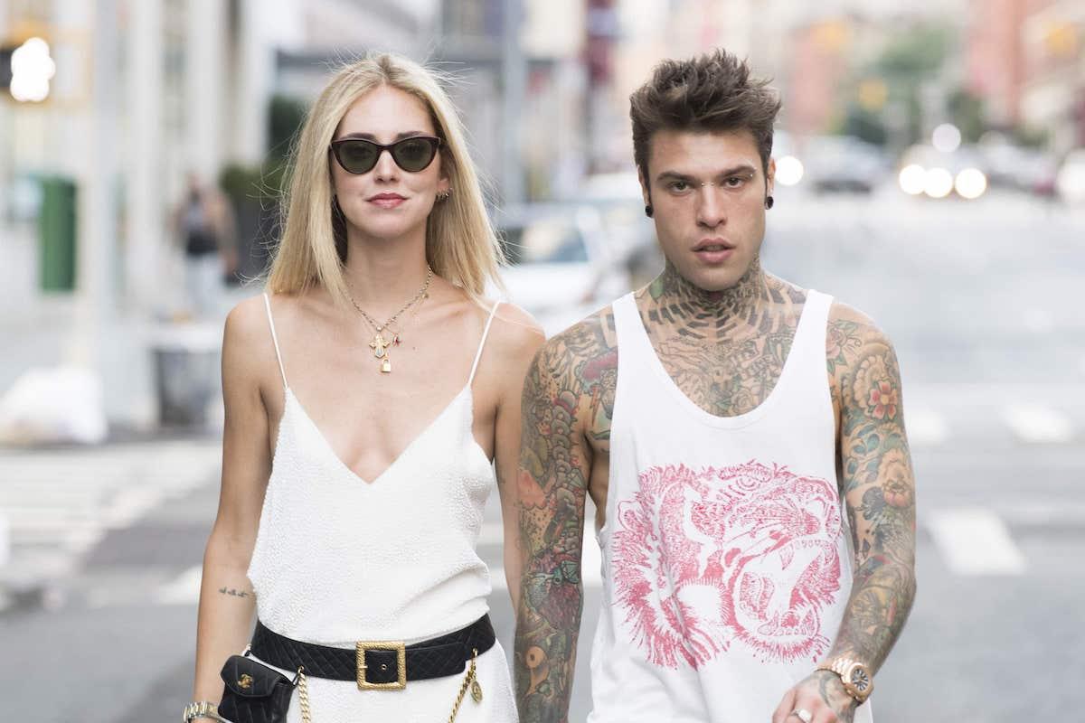 Fedez e Chiara Ferragni per strada