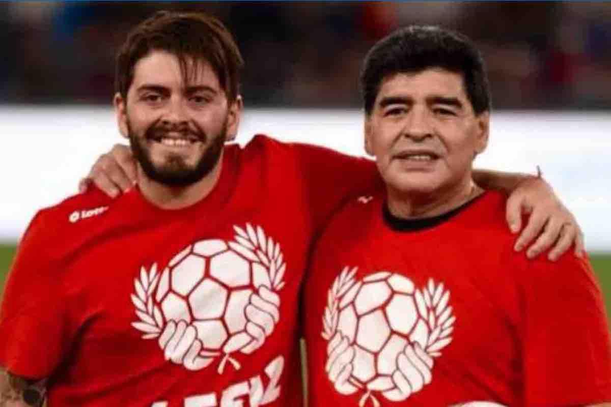 Diego Maradona e il figlio