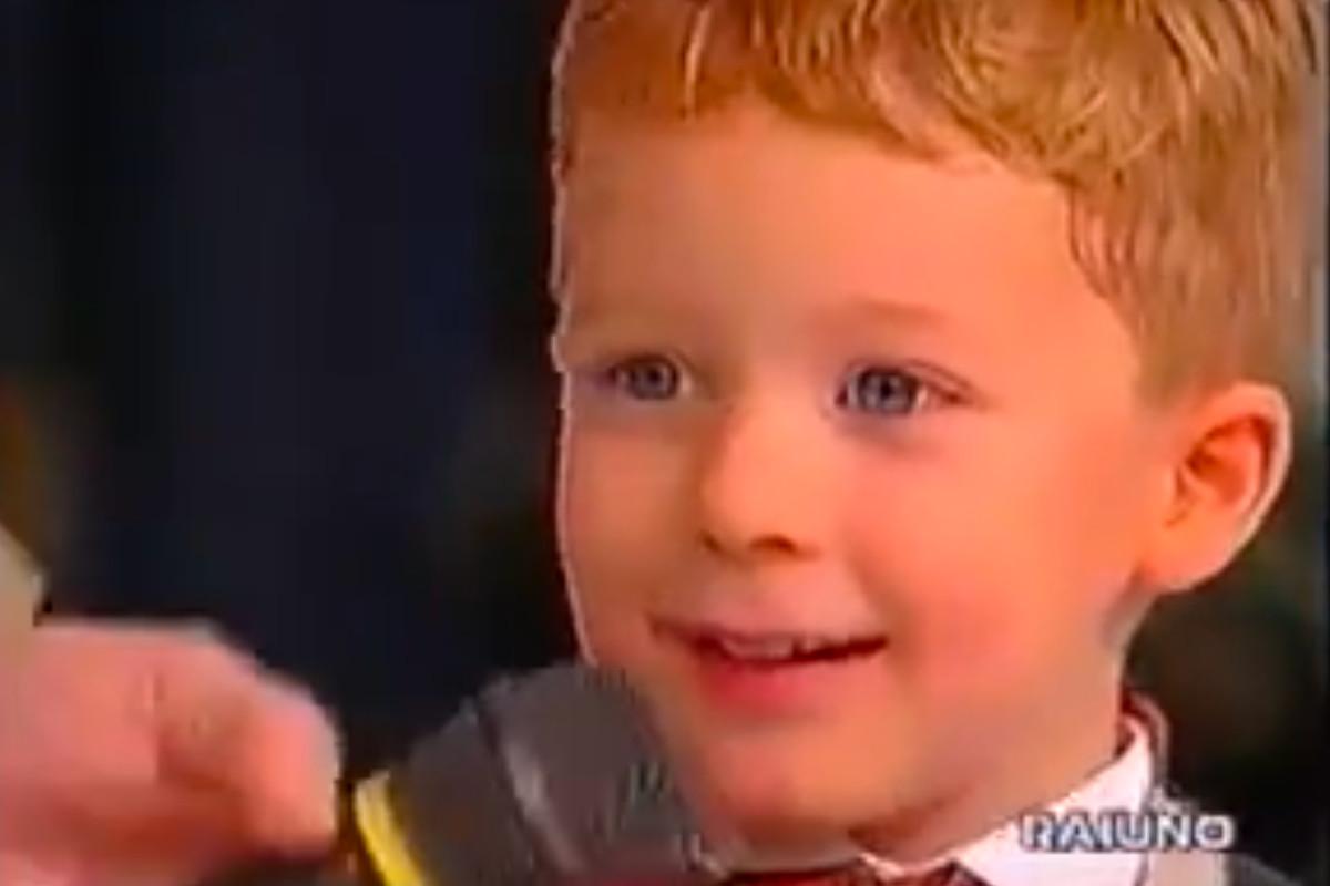 Giulio Bortolaso da piccolo