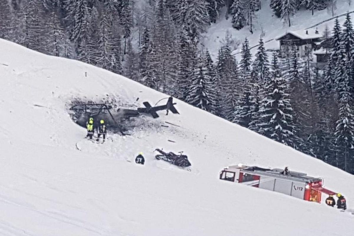 incidente elicottero feriti