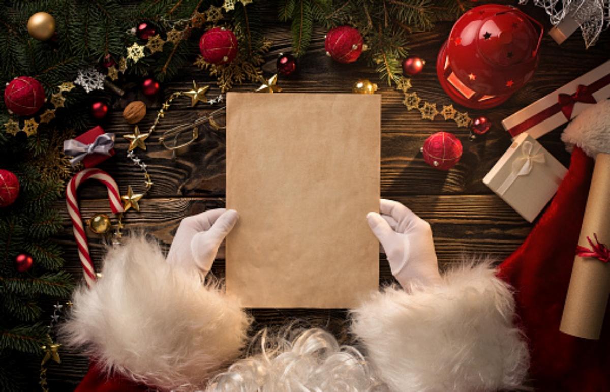 La risposta di Babbo Natale per due bambine