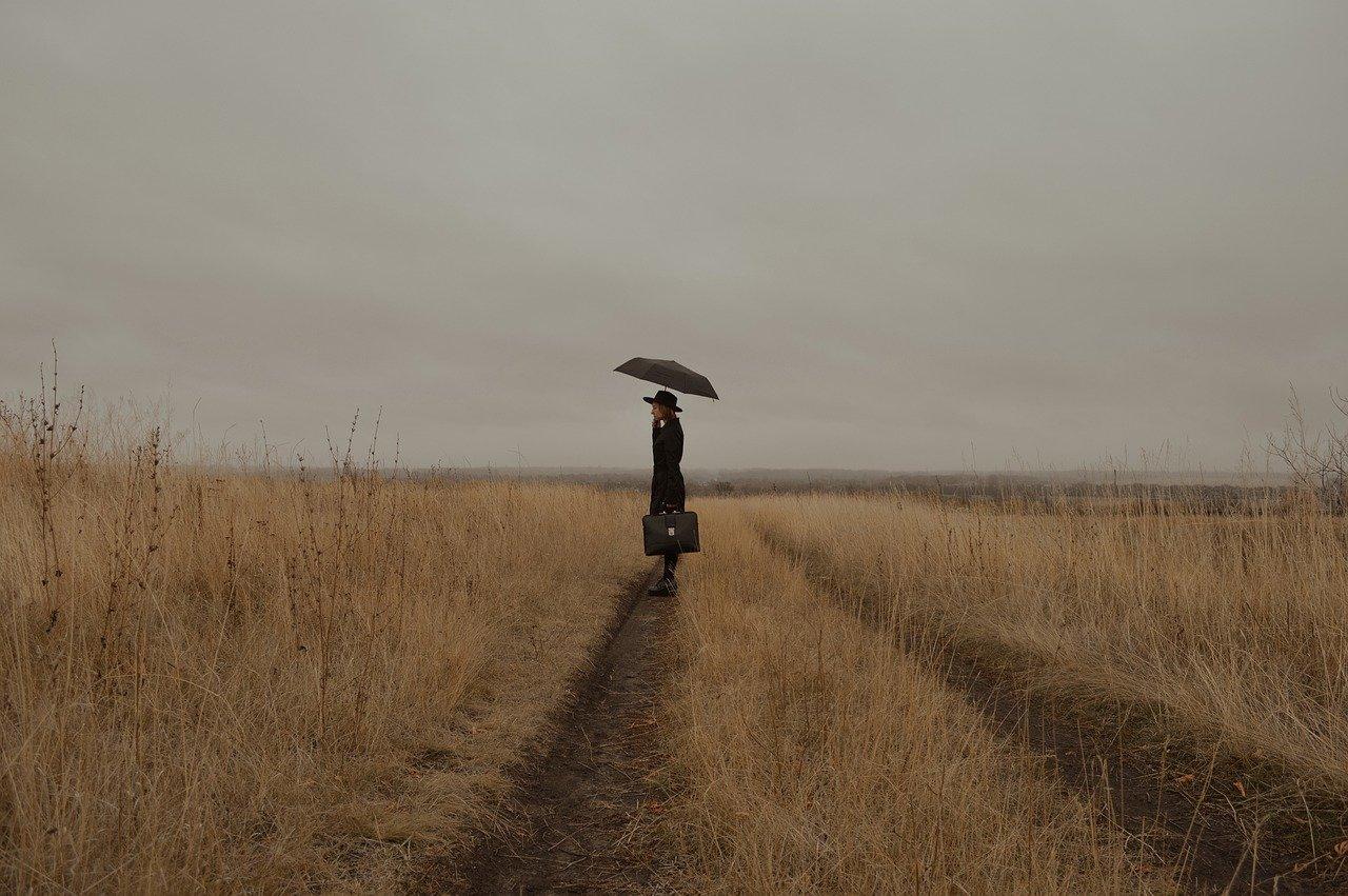 Donna fugge di casa