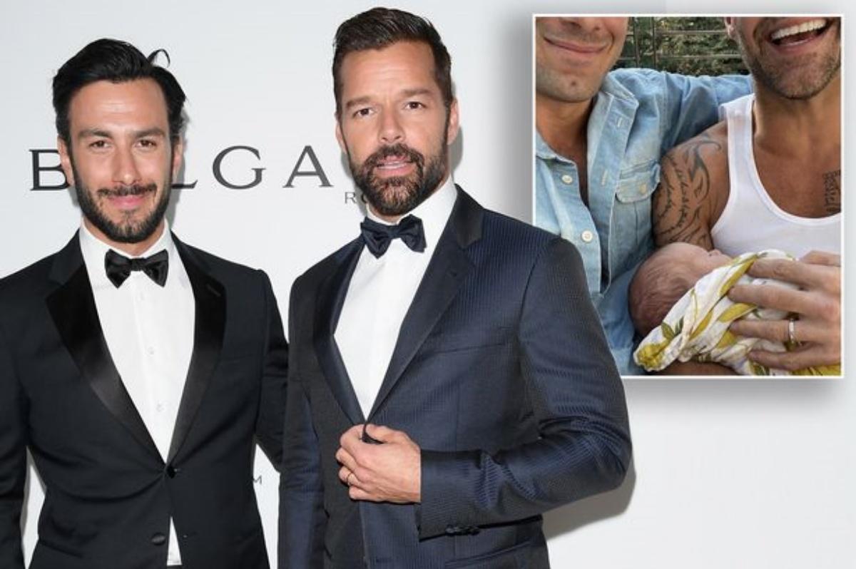Ricky Martin e la foto del quarto figlio