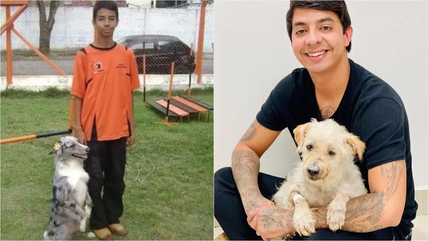 Esdras Andrade e i cani salvati