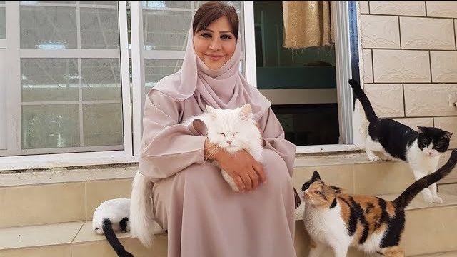 Maryam al-Balushi e i suoi gatti