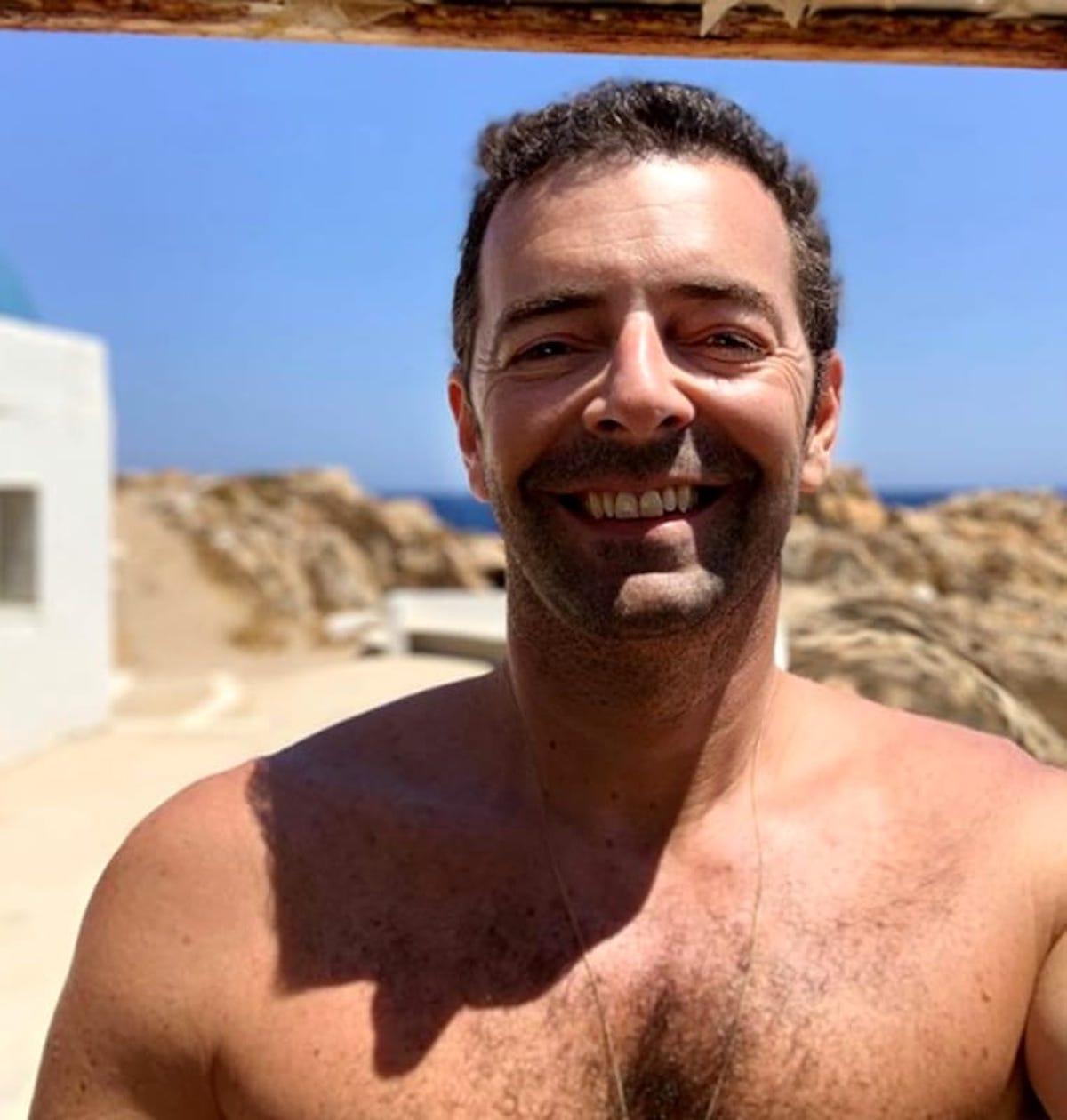 Alberto Matano in vacanza