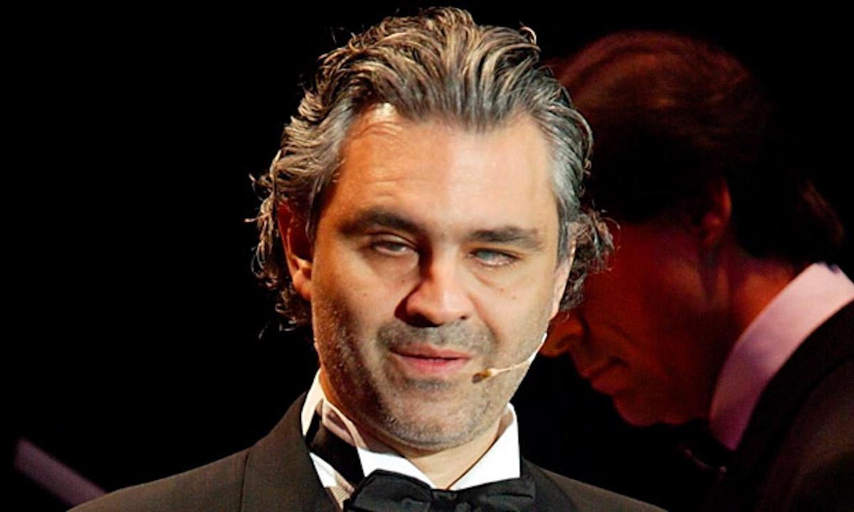 Primo piano Andrea Bocelli