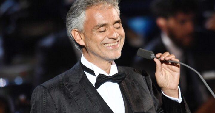 Andrea Bocelli sul palco
