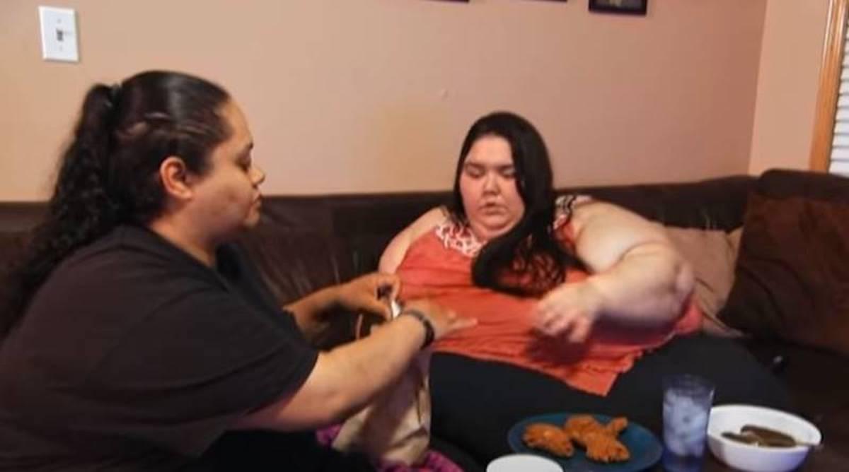 Donna affetta da obesità