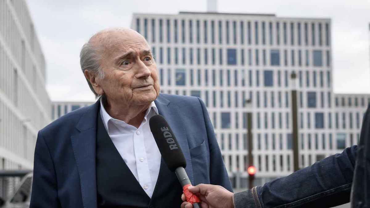 Joseph Blatter concede una dichiarazione