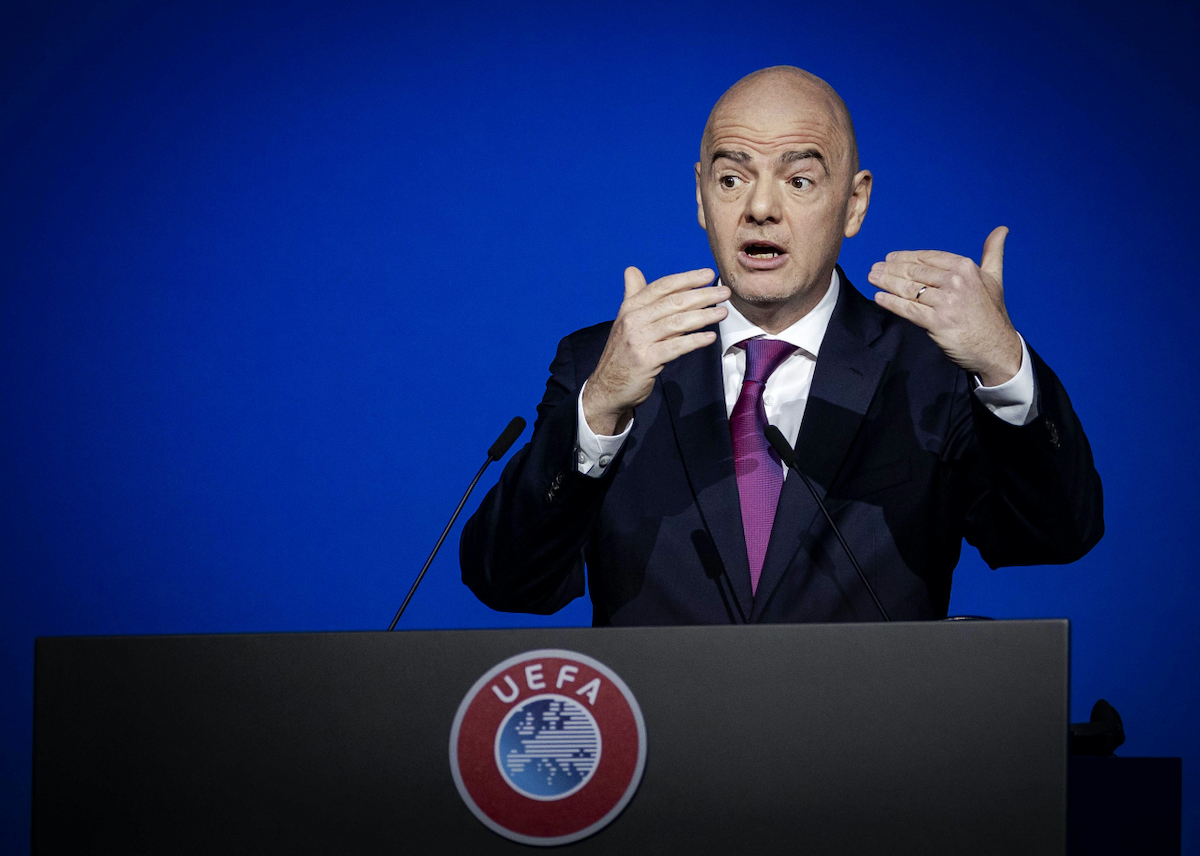 Gianni Infantino in conferenza