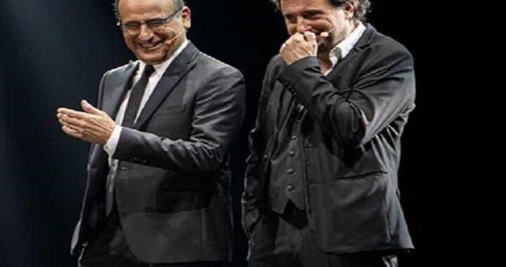 Risate Carlo Conti e Leonardo Pieraccioni