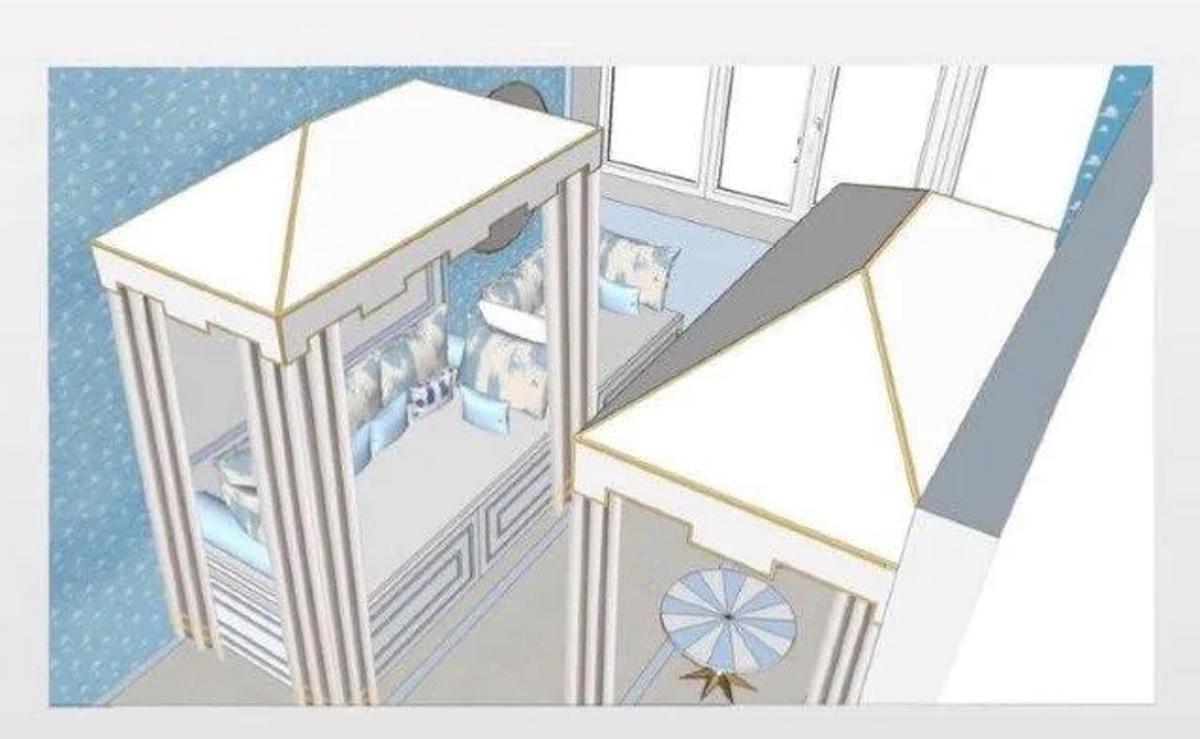Progetto stanza figlio di Ferragni Chiara