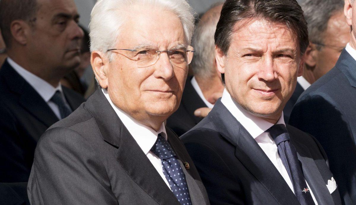 Discussione tra Giuseppe Conte e Sergio Mattarella sulla eventuale crisi di Governo