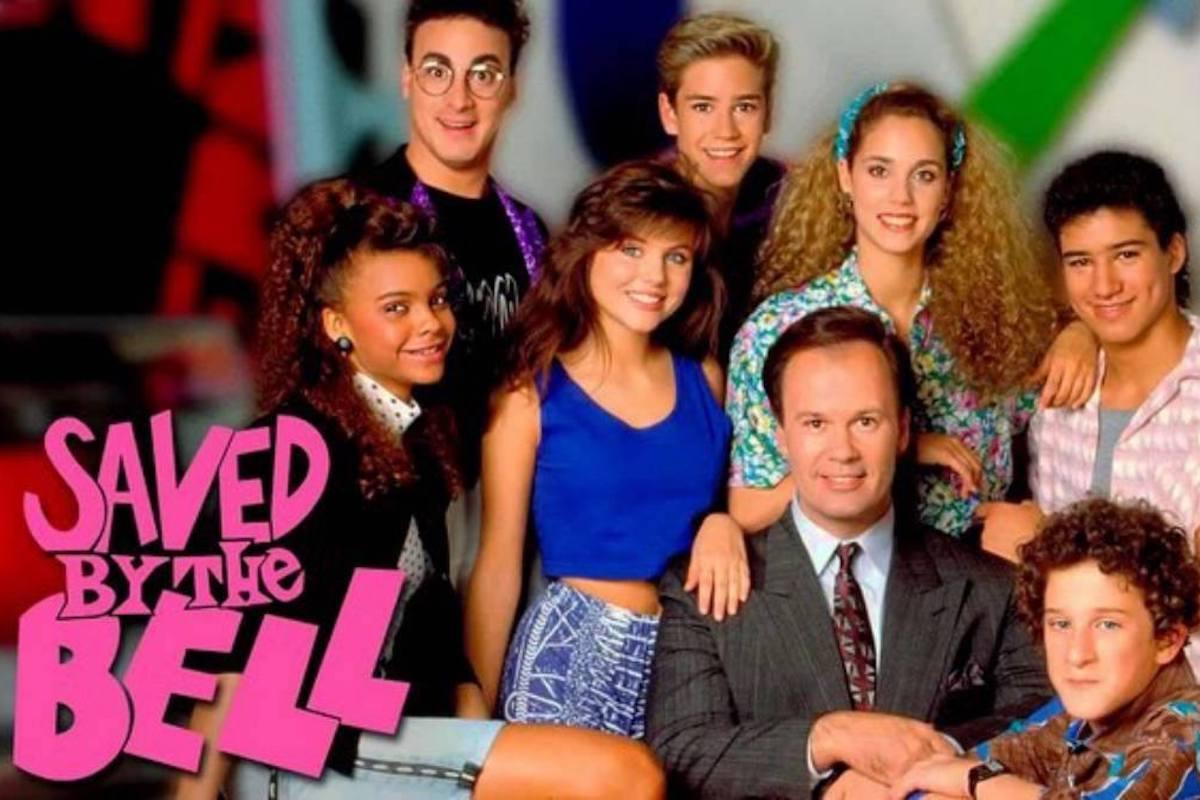Dustin Diamond con il resto del cast di Bayside School