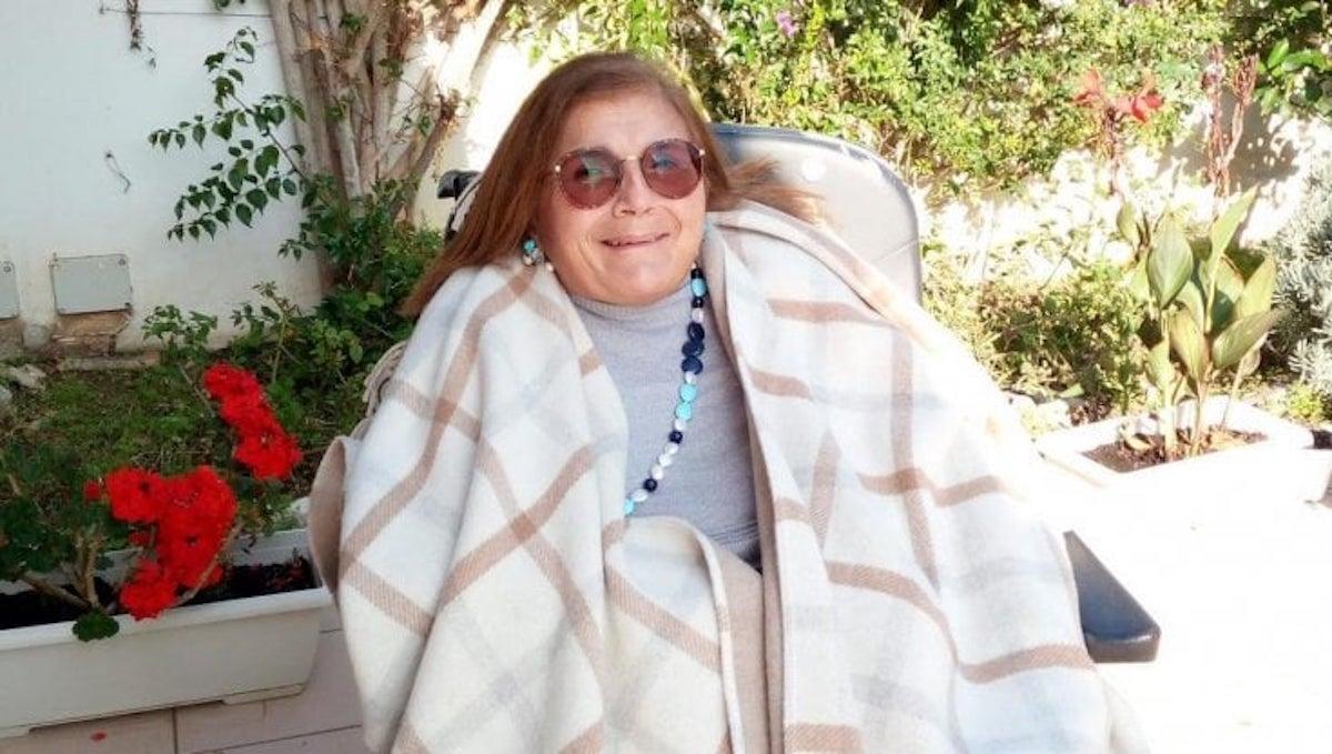 Signora con disabilità
