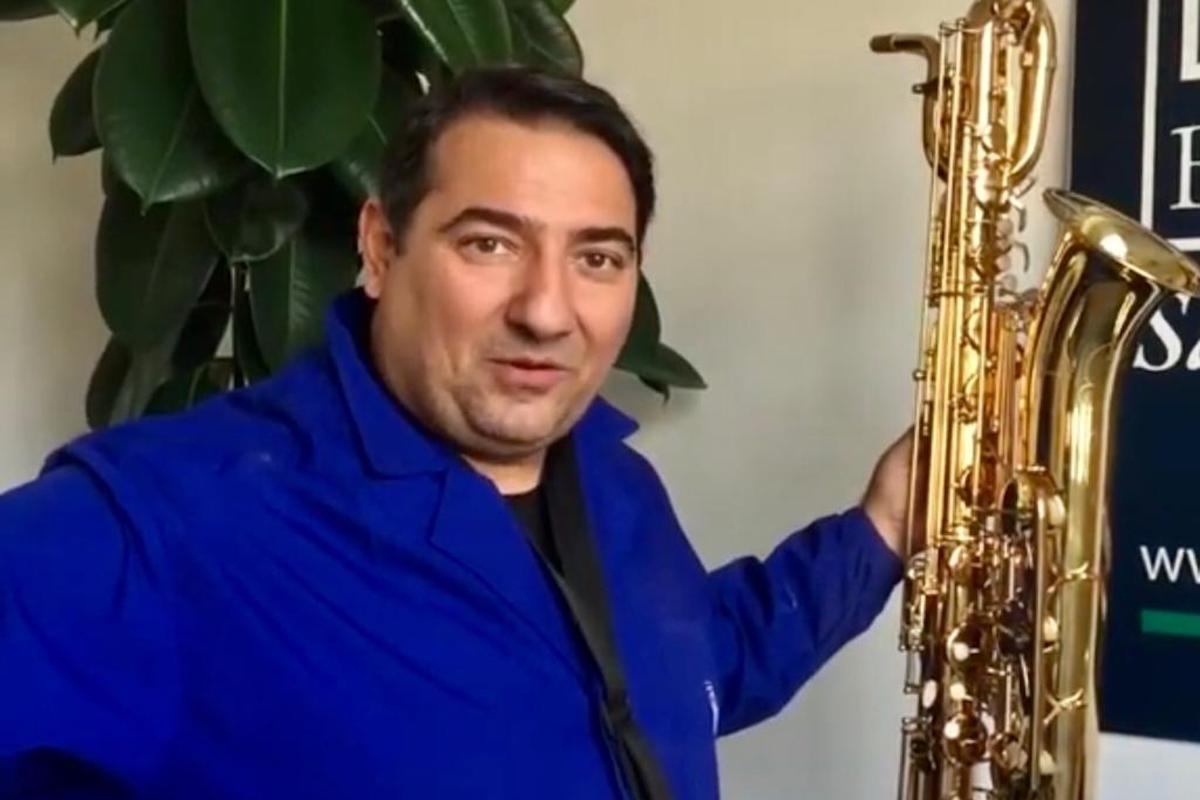 Collazoni Marco con il sassofono