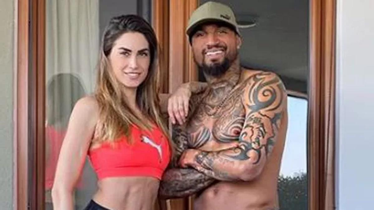 Boateng insieme alla moglie