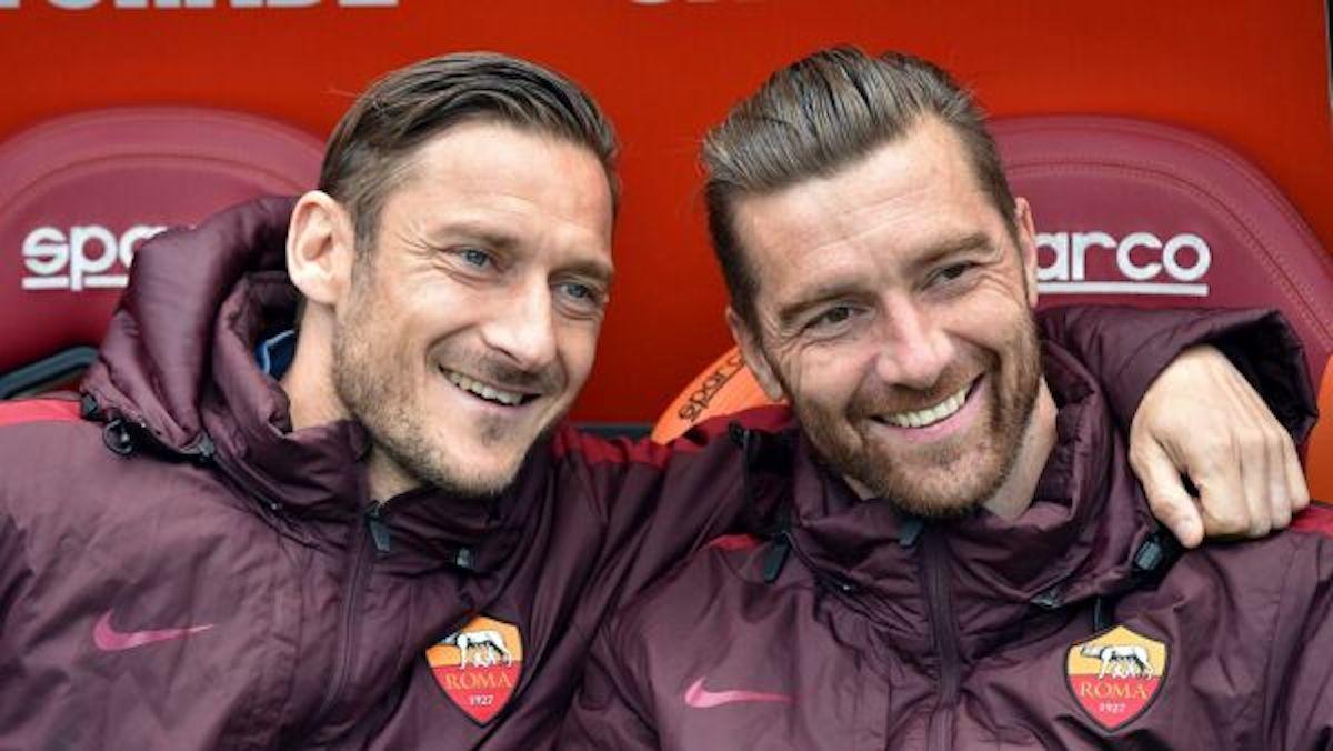 Francesco Totti e Morgan De Sanctis