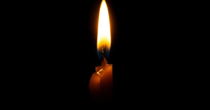 Sfondo nero candela