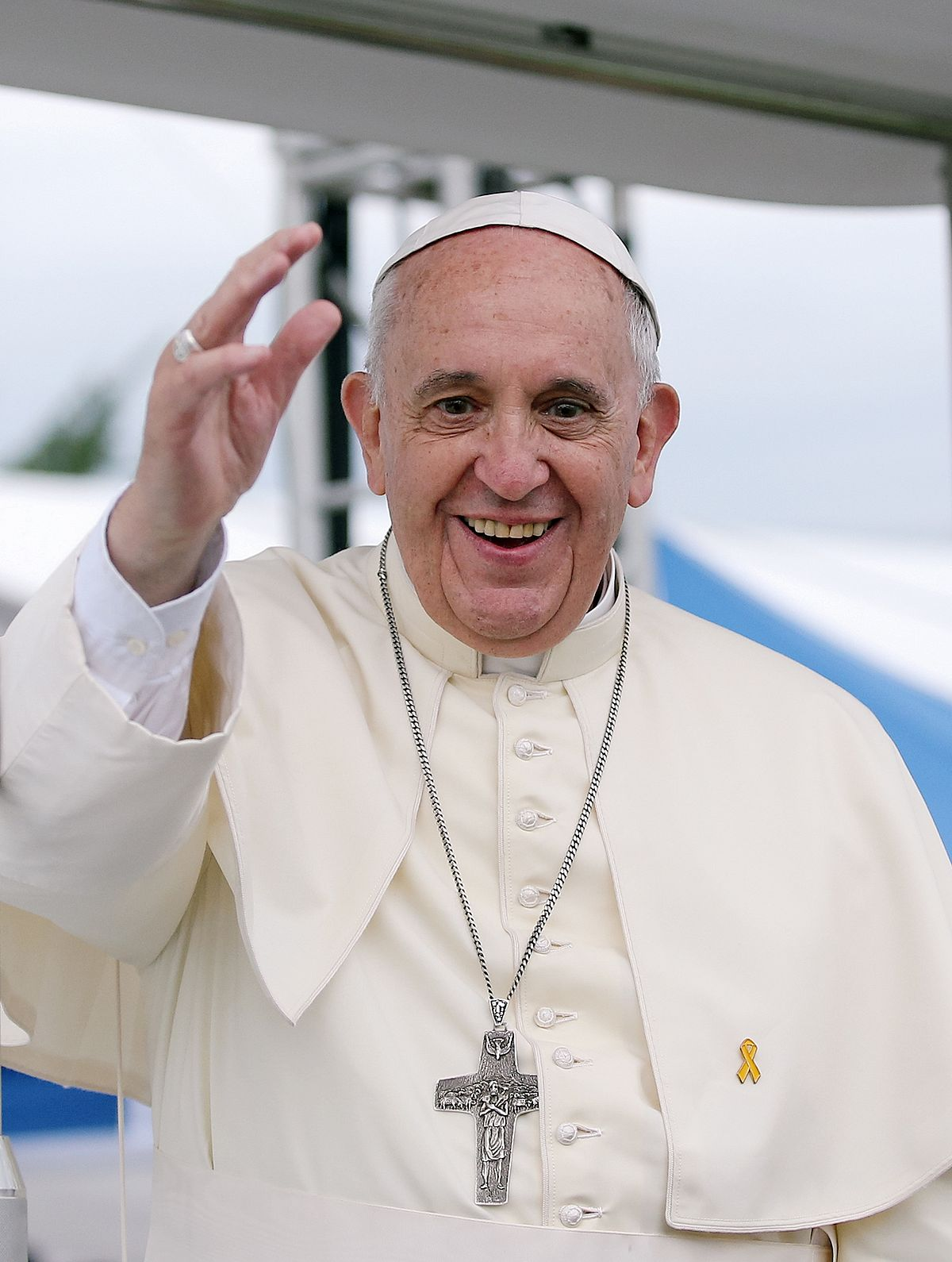 Papa Francesco sorridente