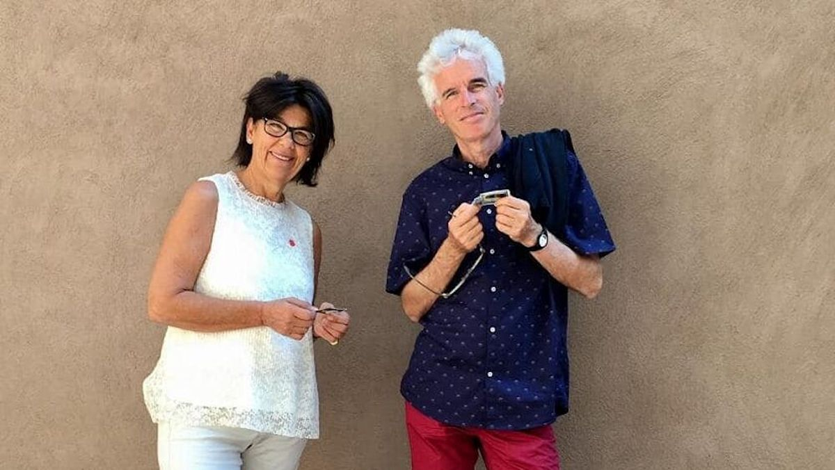 Peter Reunier con la compagna Laura Perselli
