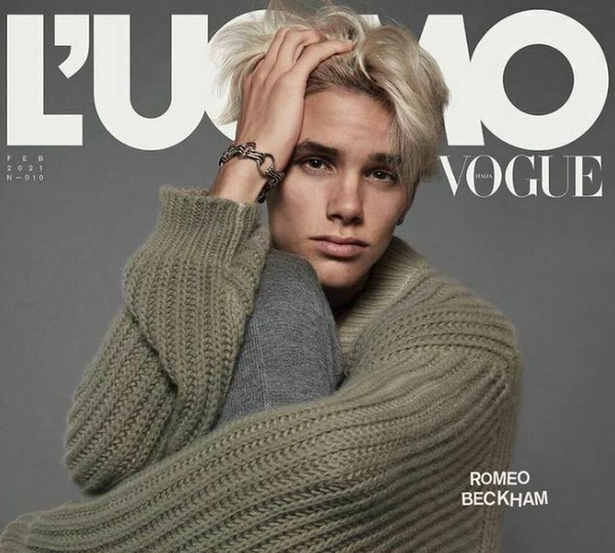Copertina con Beckham Romeo