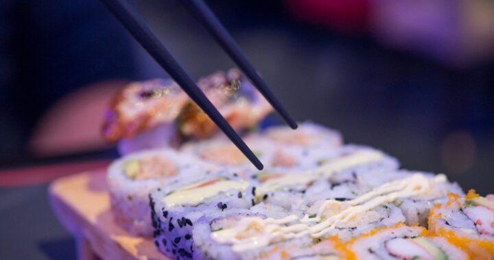Primo piano sushi
