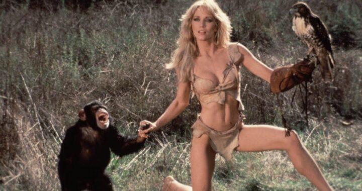 Una scena di Sheena regina della giungla con Tanya Roberts