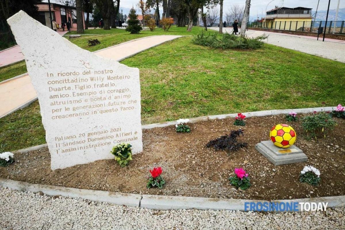Inaugurato il parco comunale Willy Monteiro Duarte, a Paliano