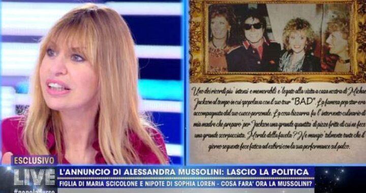 Alessandra Mussolini annuncia un addio sconvolgente