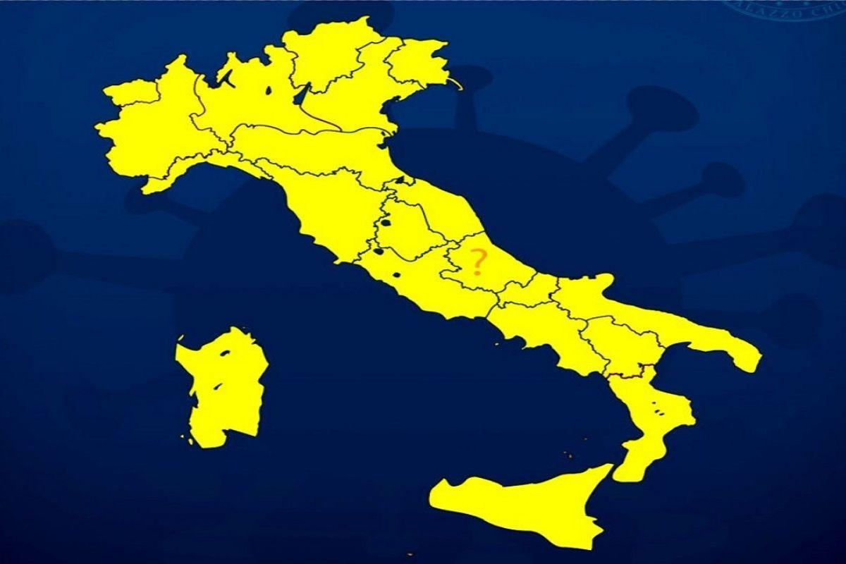 da oggi tutta italia in zona gialla