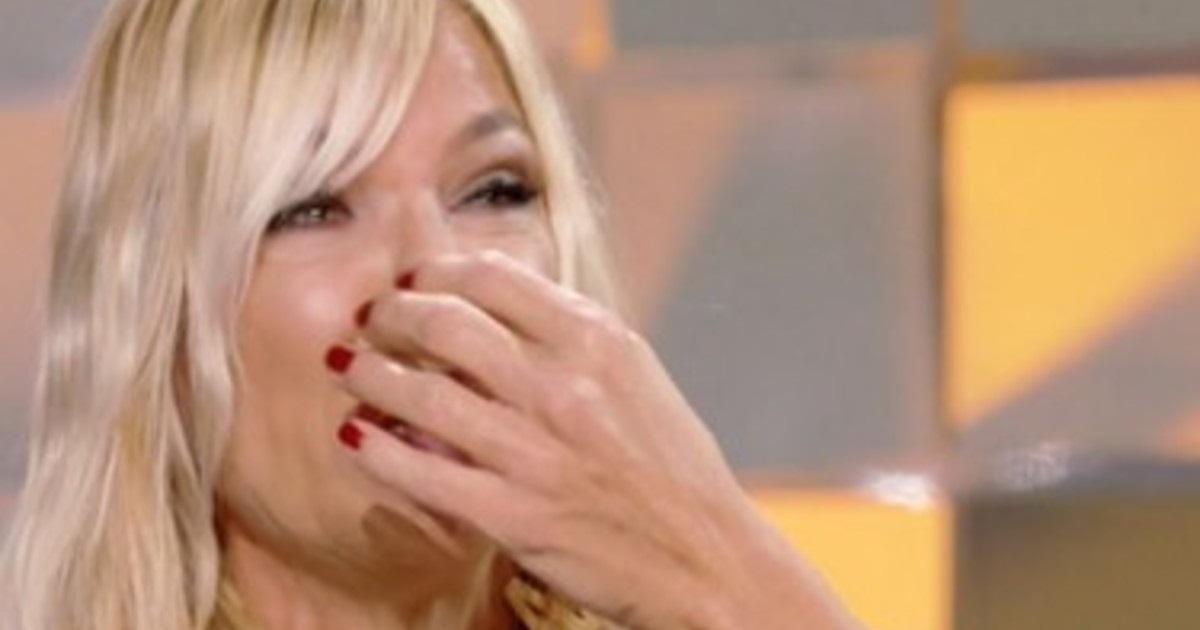Matilde Brandi in lacrime per l'ex marito