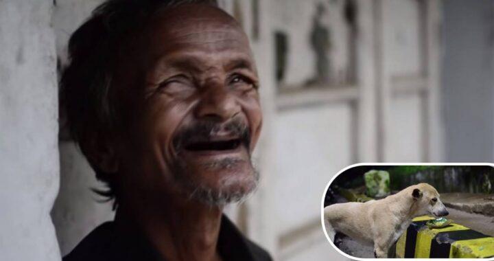 Senzatetto lotta per sopravvivere per strada ma guardate cosa fa per il suo cucciolo, il video