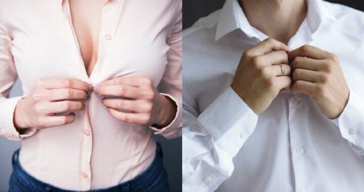 Perché le abbottonature delle camicie sono diverse tra uomo e donna?