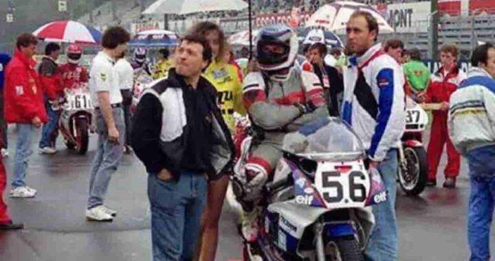 Aldeo Presciutti sulla moto