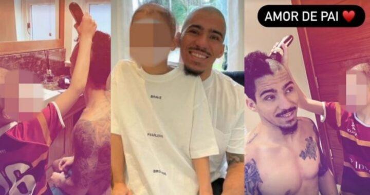 Allan rasa i capelli a zero per suo figlio Miguel