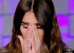 Silvia Toffanin in lacrime