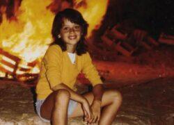 Claudia Pandolfi e la foto della sua infanzia