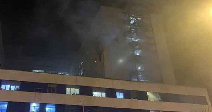 Paziente Covid manda in fiamme edificio
