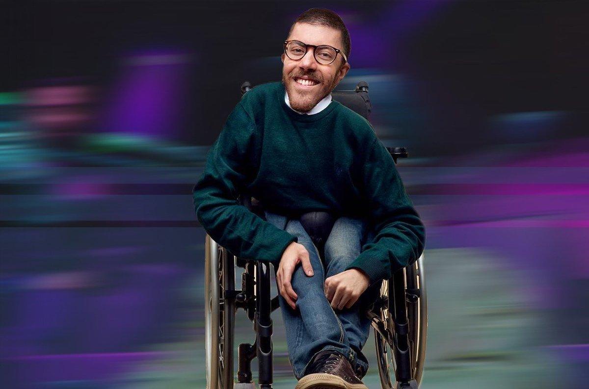 Melio Iacopo in carrozzina