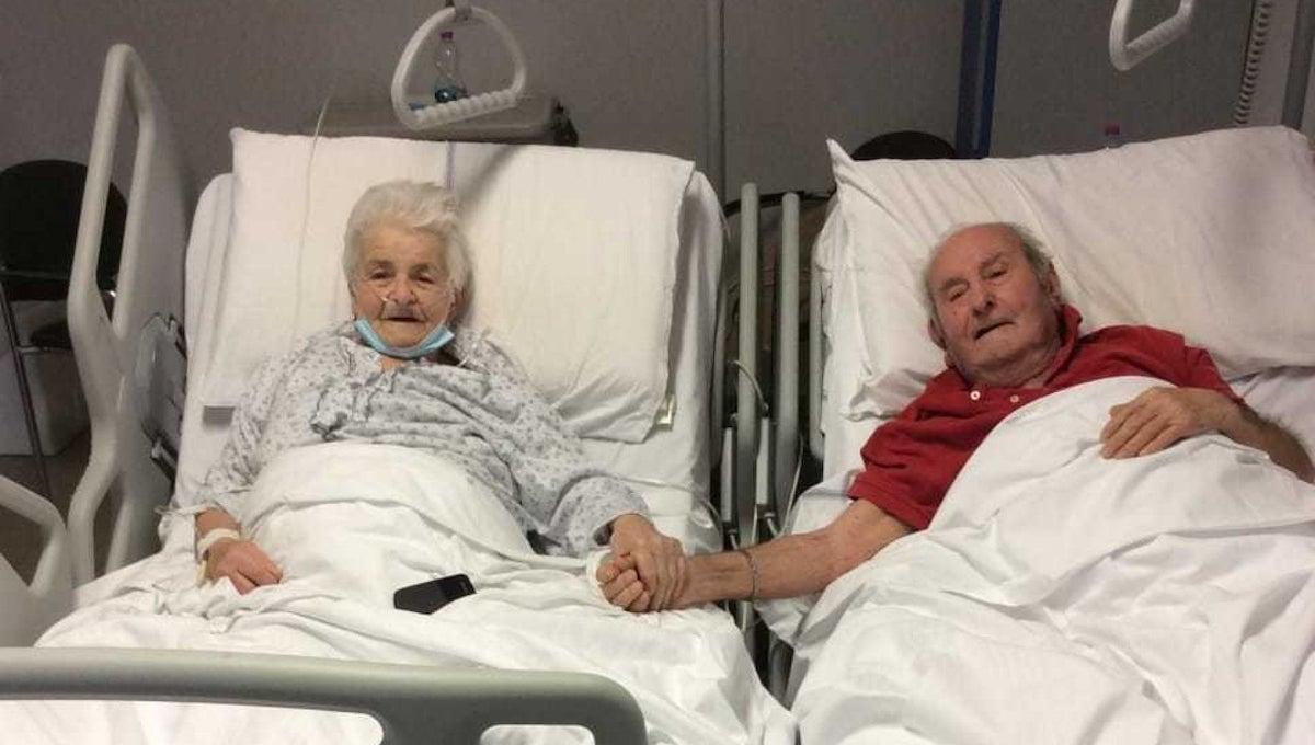 Ivo e Livia sul lettino d'ospedale