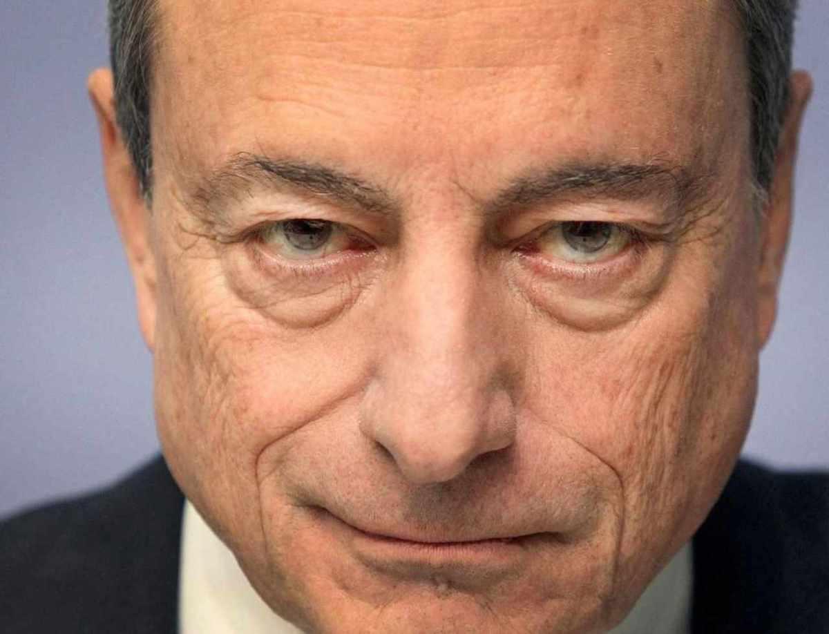 Primo piano Mario Draghi